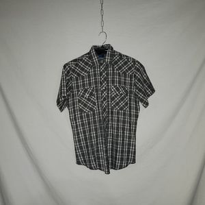 Wrangler Western Shirts mens M plaid snap buttons